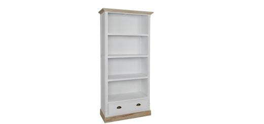 Una libreria per esporre l'oggettistica per la casa